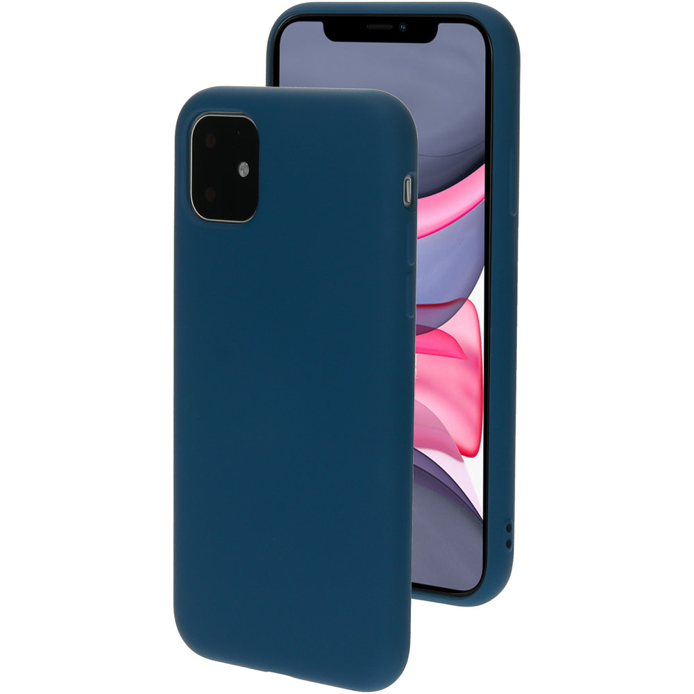 Mobiparts Silicone Cover Apple iPhone 11 Blueberry Blue