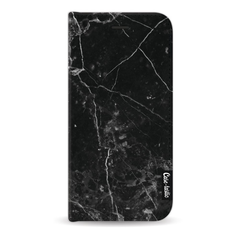 Casetastic Wallet Case Black Apple iPhone 7 / 8 - Black Marble