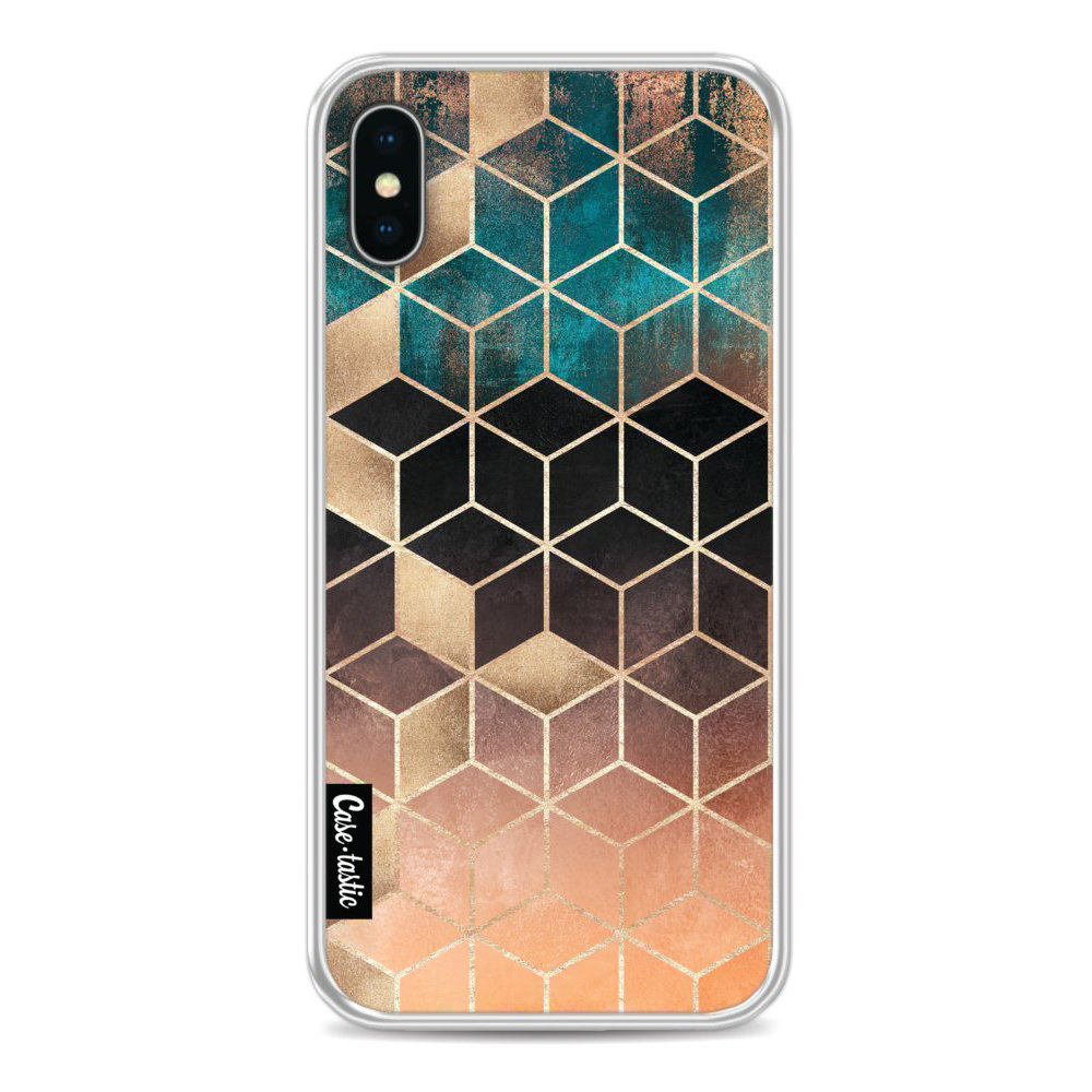 Casetastic Softcover Apple iPhone X / XS - Ombre Dream Cubes
