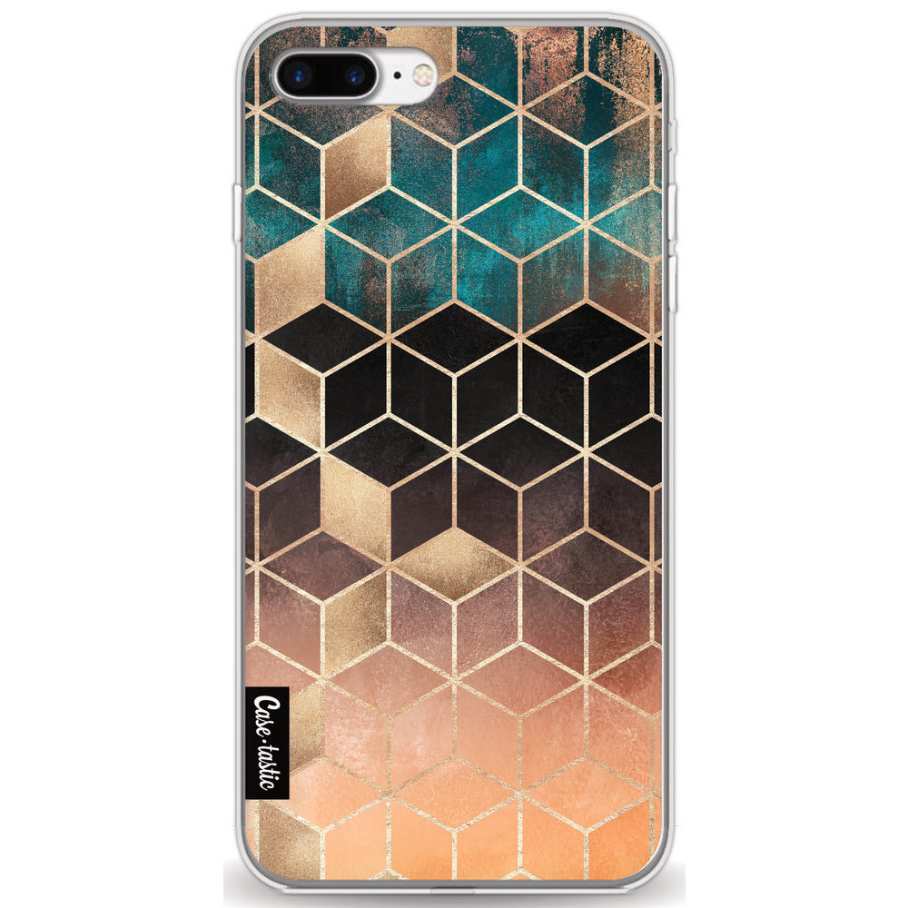 Casetastic Softcover Apple iPhone 7 Plus / 8 Plus - Ombre Dream Cubes