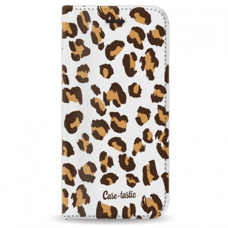 Casetastic Wallet Case White Apple iPhone 7 / 8 - Leopard Print