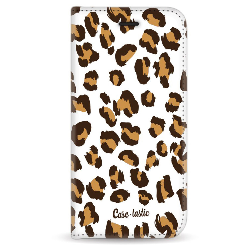 Casetastic Wallet Case White Apple iPhone 6 / 6S - Leopard Print
