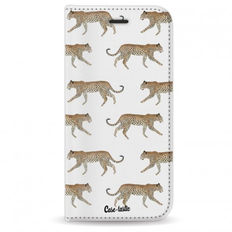 Casetastic Wallet Case White Apple iPhone 7 / 8 - Hunting Leopard