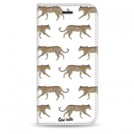 Casetastic Wallet Case White Apple iPhone 6 / 6S - Hunting Leopard
