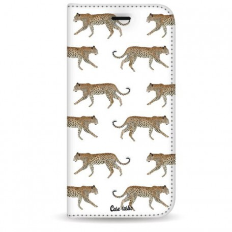 Casetastic Wallet Case White Apple iPhone 7 Plus / 8 Plus - Hunting Leopard
