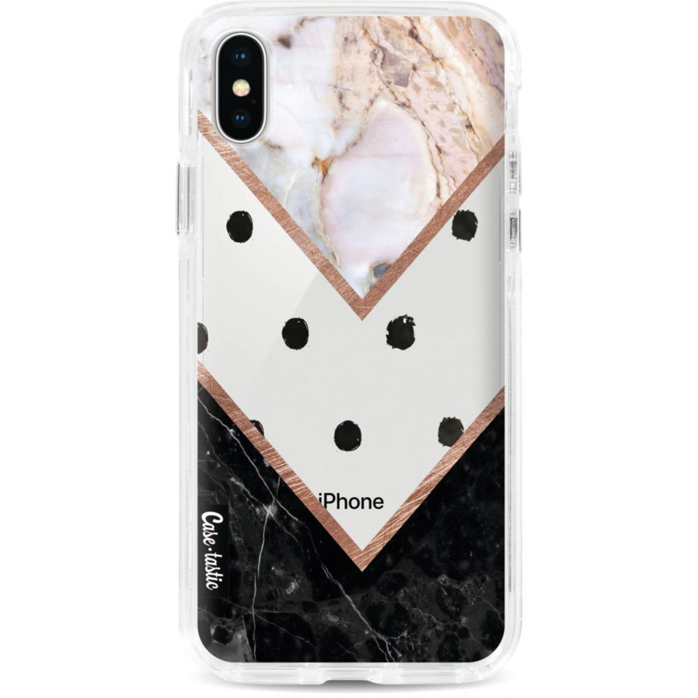 Casetastic Dual Snap Case Apple iPhone X / XS - Mix of Marbles