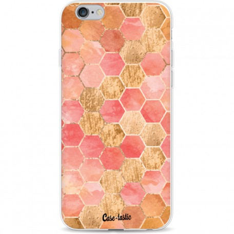 Casetastic Softcover Apple iPhone 6 / 6s - Honeycomb Art Coral