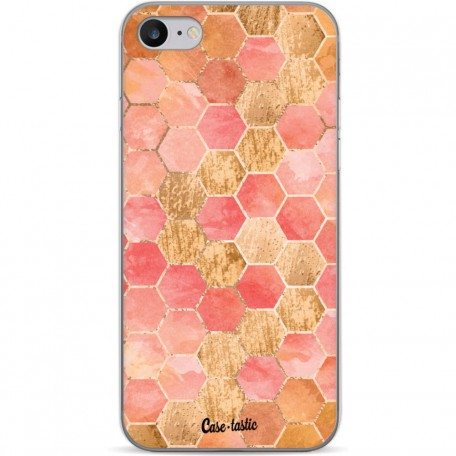 Casetastic Softcover Apple iPhone 7 / 8 / SE (2020) - Honeycomb Art Coral