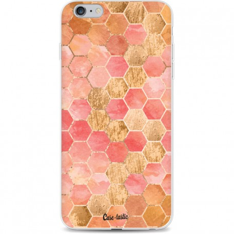 Casetastic Softcover Apple iPhone 6 Plus / 6s Plus - Honeycomb Art Coral