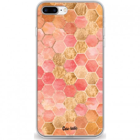 Casetastic Softcover Apple iPhone 7 Plus / 8 Plus - Honeycomb Art Coral