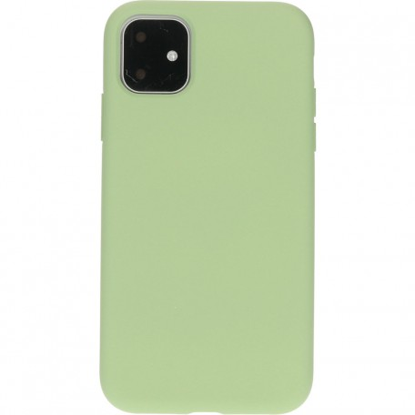 Mobiparts Silicone Cover Apple iPhone 11 Pistache Green