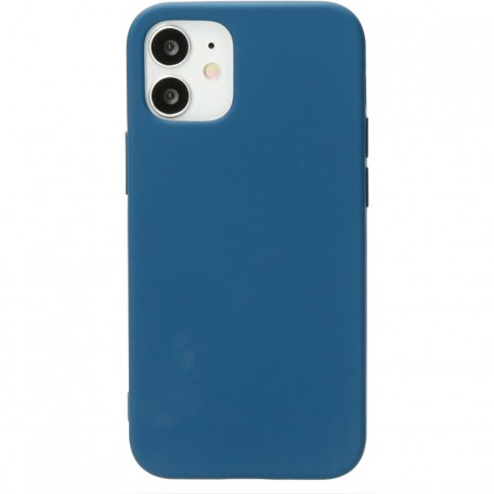 Mobiparts Silicone Cover Apple iPhone 12/12 Pro Blueberry Blue
