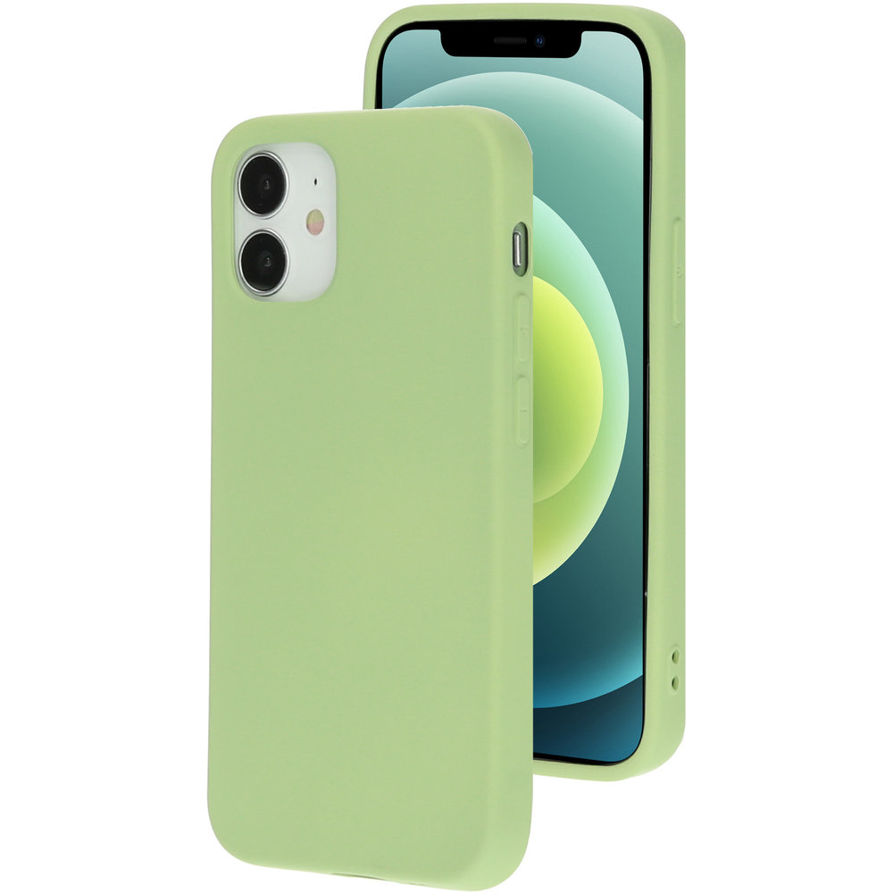 Mobiparts Silicone Cover Apple iPhone 12 Mini Pistache Green