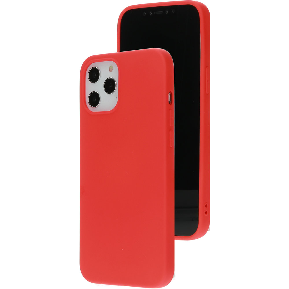 Mobiparts Silicone Cover Apple iPhone 12 Pro Max Scarlet Red