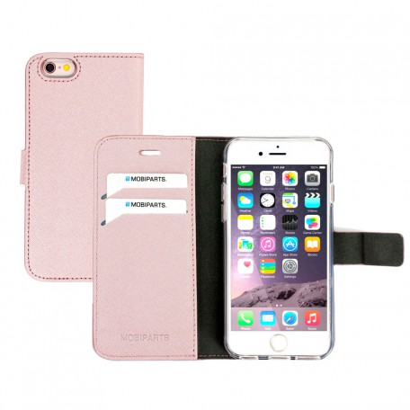 Mobiparts Saffiano Wallet Case Apple iPhone 6/6S Pink